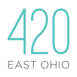420 Chicago Apartments Vertical Footer Logo