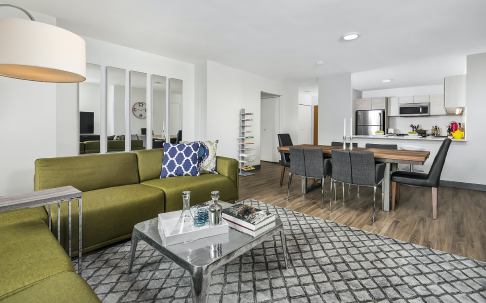 420 E Ohio Luxury Streeterville Apartments - Spacious Living Room